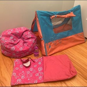 American Girl tent and accessories